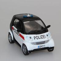 1:43 Smart City Coupe 2002 PRC Police Car DeAGostini Diecast Model Toy Car Mini