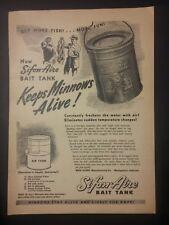 1947 Sifon-Aire Bait Tank Ad Montgomery, Alabama Keeps Minnows Alive!