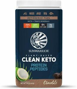 Clean Keto Plant-Based Protein Peptides by Sunwarrior, 15 Servings Chocolate