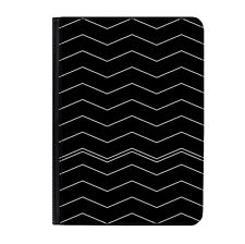 "Black & White Zig Zag Pattern Classic Universal 9-10.1"" Leather Flip Case Cover"