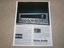 Nikko NR-1415 Receiver Ad, 1 page, Article, 1978 Classic Ad