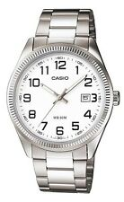 Casio MTP1302D-7B Men's Standard Stainless Steel Easy Reader White Dial Watch