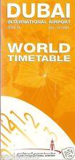 Airline Timetable - Dubai International Airport - 08/04