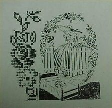 Southern Belle Embroidered Bedspread Transfer PATTERN Southern Lady