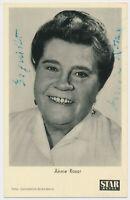 Annie Rosar †1963 - original signierte STAR-REVUE Autogrammkarte