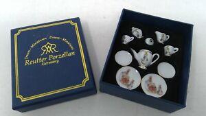 Reutter Porzellan Germany Miniature Beatrix Potter Tea Set
