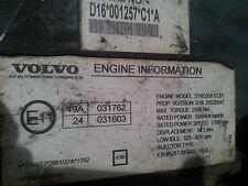 VOLVO FH16 D16C 550PS engine computer EDC ECU 20520547