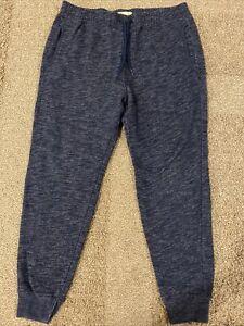 Hollister Heathered Blue Jogger Sweatpants size M Mens EUC