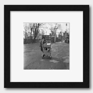 Lady Walks Her Dogs on a Pram in Cardiff Wales1954 Print 1