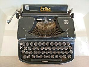 Erika 8 Seidel & Naumann Drezden cyrillic portable typewriter with case 1940