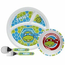 Teenage Mutant Ninja Turtles Mealtime Set - Plate, Bowl, Fork & Spoon by Zak!