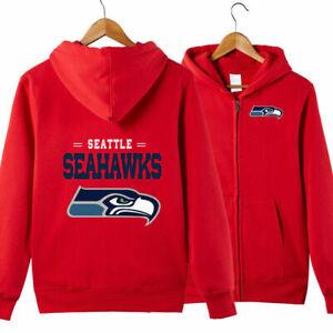 Seattle Seahawks Fans Hoodie Classic  Hooded Sweatshirt Jacket Coat Top Tops