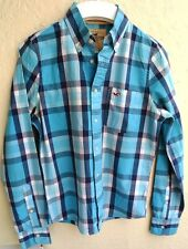 HOLLISTER - Long Sleeve Blue CHECKED SHIRT - SMALL - Immaculate