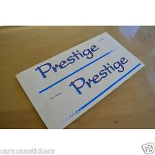 HOBBY Prestige - (UNDERLINED) - Caravan Name Stickers Decals Graphics - PAIR
