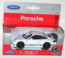 Welly-Porsche 911 GT3 RS (Blanco + Negro) - Escala Modelo 1/39