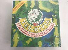 1994 DSH Enterprises TEE-RIVIA Golf Trivial Board Game Sealed