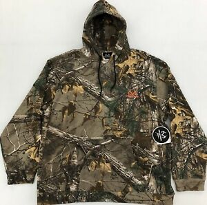 Realtree Xtra Mens Lightweight Fleece Camo Hoodie - Camouflage Pullover Sweater