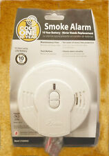 New Code One 10-Year Lithium Ion Battery Operated Ionization Smoke Alarm