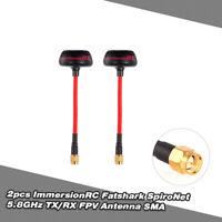 USA 2pcs Fatshark ImmersionRC SpiroNet 5.8GHz TX/RX RHCP FPV Antenna SMA F3X5