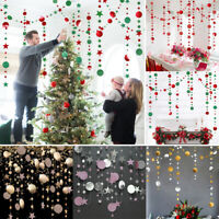 Glittery Star Circle Ceiling Hanging Wall Door String  Wedding Party Home Decor