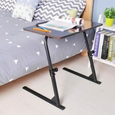 Adjustable 31.5 Inches Laptop Bed Table Portable Standing Desk Foldable Black
