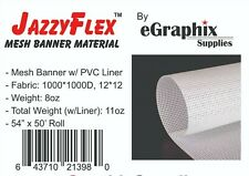 Mesh Banner Material W Liner 1000x1000 White 54 In X 50 Ft Roll