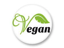 "Pin Button Badge Ø25mm 1"" Logo Vegan Végétarien Vegetarian"