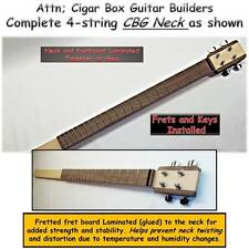 Cigar Box Guitar.Neck Kit, Complete as shown Hardwood Neck 4 -string. DIY nice