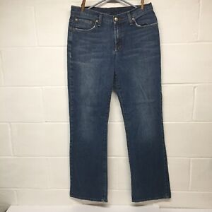 Lucky Brand Dungarees Rider Fit Relaxed SZ 8/32 Blue Jeans Long Length