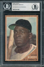 MINNIE MINOSO 1962 Topps #28 Signed Auto Autograph BAS Beckett Encapsulated