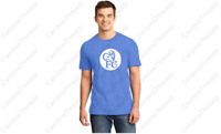 Chelsea FC Vintage Soccer T-Shirt London Blues Distressed HEATHER ROYAL Tee *NEW