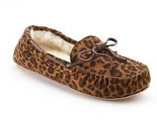 "SONOMA LIFE+STYLE Womens Animal Print Moccasin Slippers""CHEETAH""Size L(9-10) NWT"