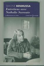 Entretiens avec Nathalie Sarraute Simone Benmussa Voir sommaire14€90 avec port
