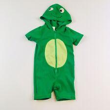 Gymboree Boys One Piece Hooded Zip Turtle Swimsuit Swim Suit 6-12 Months Green