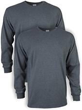 Gildan Men's Ultra Cotton Long Sleeve T-Shirt, Style G2400, 2-Pack, Dark X-Large