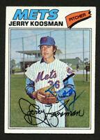 Jerry Koosman #300 signed autograph auto 1977 Topps Baseball Trading Card