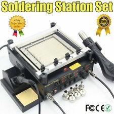 BGA Rework Station 3 In 1 Hot Air Gun + Soldering Iron + IR Preheating Station