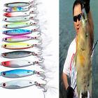 Metal Jigging Spoon 30g Bait Fishing Sea Lead Fish Fishing Lures Iron 3 Hooks B