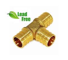 Lot Of 10 1 Pex Tees Brass Crimp Fittings Lead Free Pxte0100 Nl