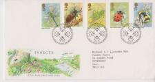 GB ROYAL MAIL FDC 1985 INSECTS STAMP SET BUREAU PMK