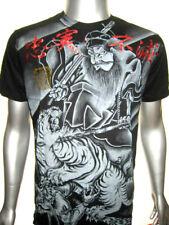 Tattoo Unit Silver-Fox Tiger Venum of YaKuza Star DC'MMA Shorts/s T-SHIRT g.D# M