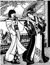 Folkwear Japanese Kimono #113 Dress Coat Robe Sash Sewing Pattern folkwear113