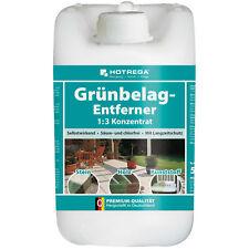 (2,60 EUR/L) Hotrega Grünbelag Entferner 5L 1:3 Algen, Moos & Stein Reiniger