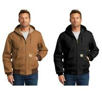 Carhartt Men's Thermal-Lined Duck Active Jacket Black or Brown FREE SHIP