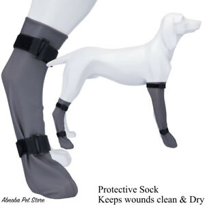 Dog Protective Sock keeps wounds & bandage dry & clean fits front leg & hind Leg