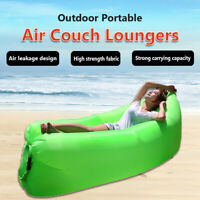 Inflatable Outdoor Lazy Couch Air Sleeping Sofa Lounger Chair Camping Beach Bed