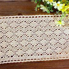 3M Lace Fabric Cream Trim Edge Applique Venise Vintage Craft Wedding DIY Dress