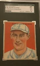 1933 Goudey Irving Burns #198 Baseball Card Graded SGC 45 VG+ 3.5