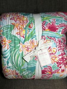 Pottery Barn Teen Lilly Pulitzer Quilt In Orchid Twin Reversible Open Box Floral