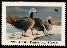Alaska 1985 State Waterfowl Hunting Permit Stamp Emperor Geese #1